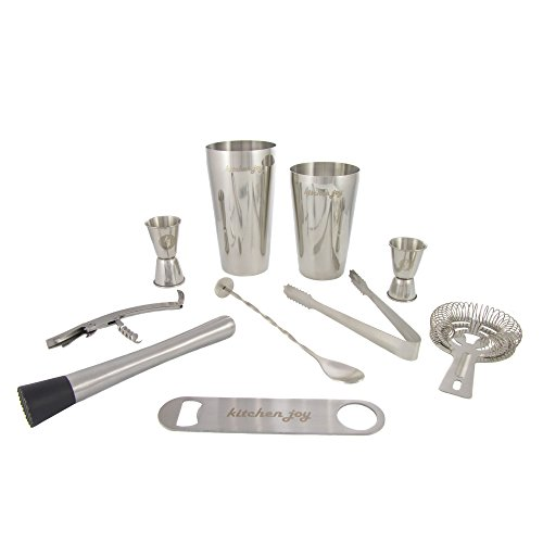 Premium Bar Set, Professional Bartender Kit with Boston Shaker and Supplier for Drink Mixing (Mixing Drinks Set compare prices)