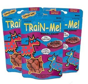 3 PACK Crazy Dog Train-Me! Training Treats Beef Flavor (3.52 oz)