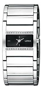 Lorus LORUS - Reloj analógico de cuarzo para niña con correa de acero inoxidable, color plateado