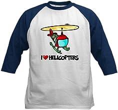 CafePress Kids Baseball Jersey - I Love Helicopter Kids Baseball Jersey