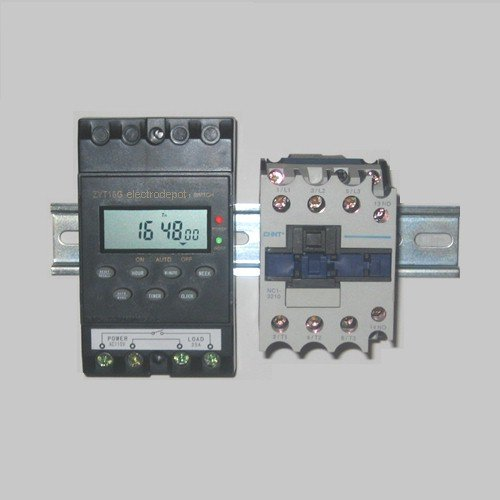 7 Day 24 Hour Electronic Programmable Timer With 50 Amp 3 Pole Contactor 934350