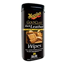 Meguiar's G10900 Gold Class Rich Leather Cleaner & Conditioner Wipes (25 wipes)