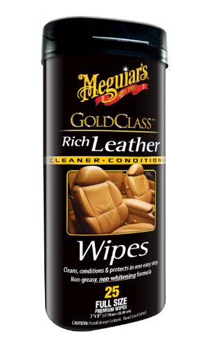 Meguiar's G10900 Gold Class Rich Leather Cleaner & Conditioner Wipes (25 wipes) (Fine Leather Cleaner Conditioner compare prices)