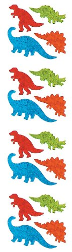 Jillson Roberts Prismatic Stickers, Mini Dinos, 12-Sheet Count (S7041)
