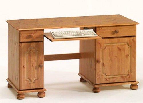 Schreibtisch Computertisch Büro Jugendzimmer Kiefer massiv gebeizt lackiert kaufen