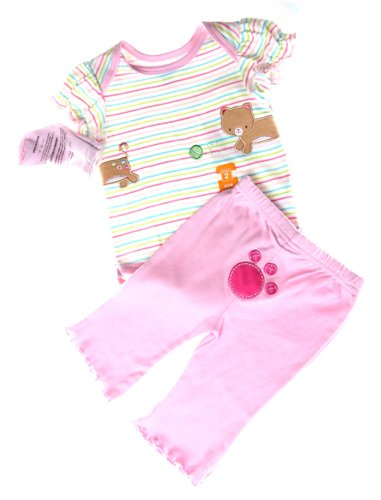 Bon Bebe 3Pc Baby Girls Set Size 3-6Mos front-989814