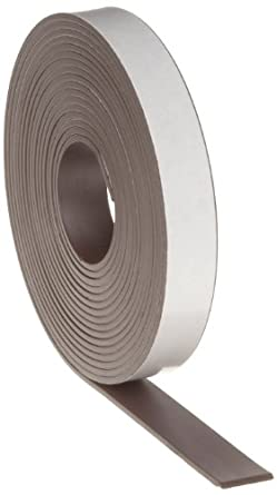 "Flexible Magnet Tape - 1/16"" thick x 1/2"" wide x 10 feet (1 roll)"