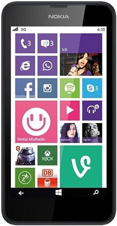 "NOKIA 630 LUMIA 4.5"" WINDOWS PHONE 8.1 ITALIA BLACK"