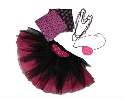 Southern Wrag Co ADULTS SHREDDED Pirate Tutu Set HOT PINK TUTU Waist 18-36 Length 16