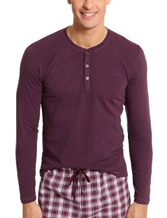 s oliver haut de pyjama homme violet 4688 fr 46 taille fabricant s. Black Bedroom Furniture Sets. Home Design Ideas