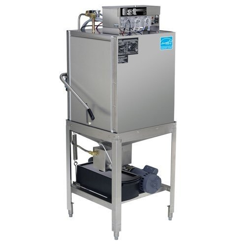 CMA EST-AH-EXT Extended-Door Single Rack Low Temperature, Chemical Sanitizing Straight Dishwasher
