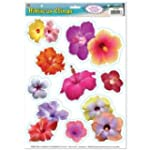 Beistle 54446 Hibiscus Clings Sheet,...