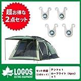 Logos[ロゴス]71805010&74176001[2点セット] neos PANELスクリーンドゥーブル XL&ロープライト[4pcs] の2点セット