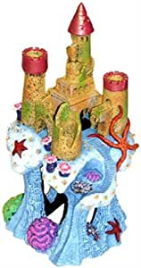 Exotic Environments Coral Castle Cavern Aquarium Ornament, 5-1/2-Inch by 5-1/2-Inch by 10-Inch