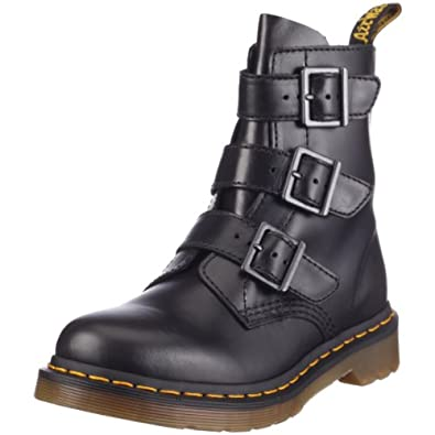 Dr. Martens Womens Blake 3 Strap Buckle Boot Black - 7 F(M) UK