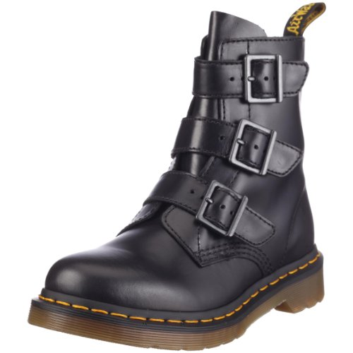Dr. Martens Womens Blake 3 Strap Buckle Boot Black