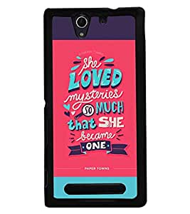 Fuson Premium Mysterious Love Metal Printed with Hard Plastic Back Case Cover for Sony Xperia C3 Dual