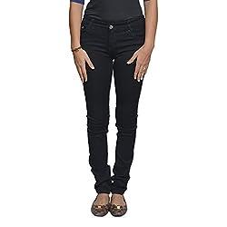 Western House Denim Black Skinny Casual jeans for girls