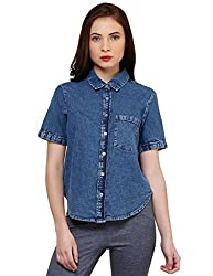 Oxolloxo Women trendy denim shirt