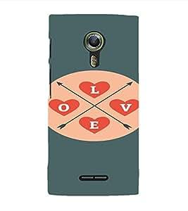 PrintVisa Love Modern Art Design 3D Hard Polycarbonate Designer Back Case Cover for Alcatel Onetouch Flash 2