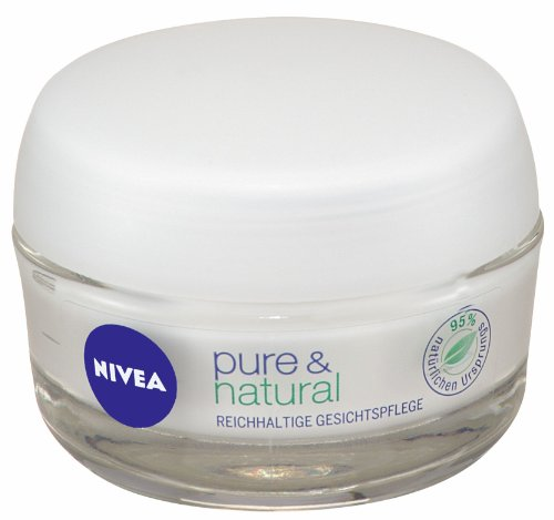 Nivea Visage Pure & Natural Reichhaltige Gesichtspflege, 50 ml