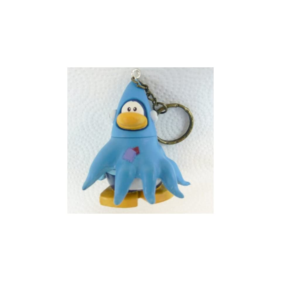 Key Chain   Clip On   SPECIAL   Club Penguin SQUIDZOID 2 Vinyl Mini Figure   Also GREAT Christmas Ornament   Cake Topper   Mix and Match Body Sections   Highly Collectible and Hard to Find