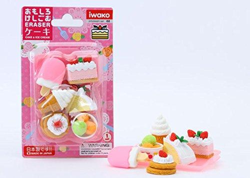 IWAKO Japanese Eraser Dessert Set - Colors Vary (Ice Cream Cone Erasers compare prices)