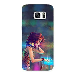Special DJ Girl Play Back Case Cover for Galaxy S7 Edge