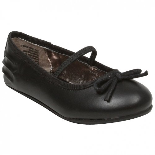 Kenneth Cole Reaction Tap Ur Song 2 Ballerina Flat (Toddler/Little Kid/Big Kid),Black,12 M Us Little Kid front-1075976