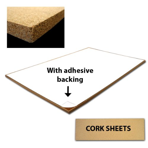 Adhesive 24-by-36-Inch Single Cork Sheet, 1/2-Inch Thick