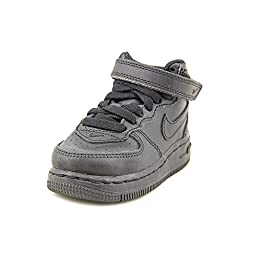 INFANTS/TODDLERS NIKE FORCE 1 MID BLACK/BLACK (TD) (314197 004), 5 M