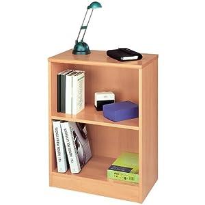 Libreria bassa mobile due vani componibile legno faggio for Libreria amazon