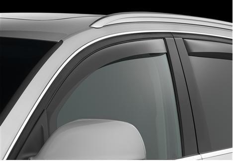 Light Grey Outside Mount Window Visor Rain Guard 4pcs For Honda Fit 2006-2008