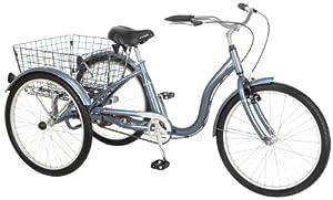 Schwinn Meridian Adult Tricycle, 24-Inch, Slate Blue by Schwinn