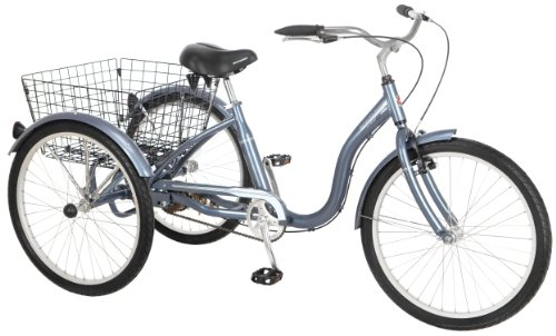Schwinn Meridian Adult Tricycle, 24-Inch, Slate Blue
