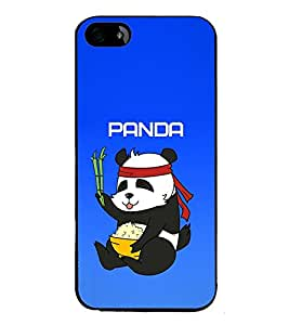 Vizagbeats Panda Blue background Back Case Cover for APPLE IPHONE 5