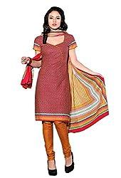 HIFI Ethnicwear Women's Dress Material RED_Free Size