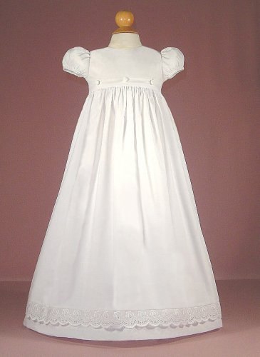 Polycotton Christening Gown with Rose Embroidered Overskirt - Buy Polycotton Christening Gown with Rose Embroidered Overskirt - Purchase Polycotton Christening Gown with Rose Embroidered Overskirt (LD Creations, LD Creations Apparel, LD Creations Toddler Girls Apparel, Apparel, Departments, Kids & Baby, Infants & Toddlers, Girls, Skirts, Dresses & Jumpers, Dresses)