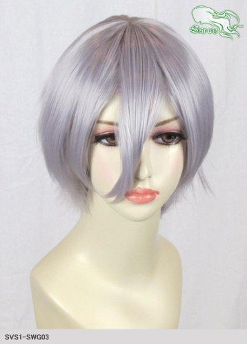 スキップウィッグ 魅せる シャープ 小顔に特化したコスプレアレンジウィッグ マニッシュショート スノーグレイ