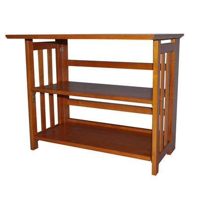 "Bookcase 29"" Tv Stand Finish: Honey Oak"