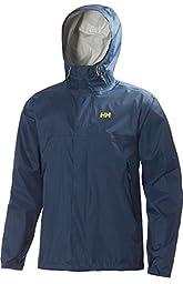 Helly Hansen Men\'s Loke Rain Jacket, Deep Steel, Large