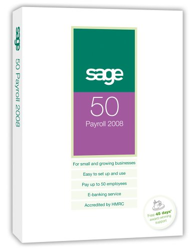 Sage 50 Payroll 2008 upto 100 Employees 1 Company (PC)