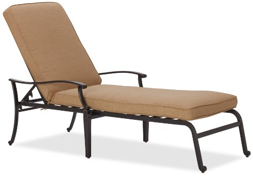 ... Strathwood Whidbey Cast Aluminum Chaise Lounge Chair