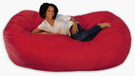 7.5 Feet Xx Large Cinnibar Cozy Sac Foof Bean Bag Chair Love Seat