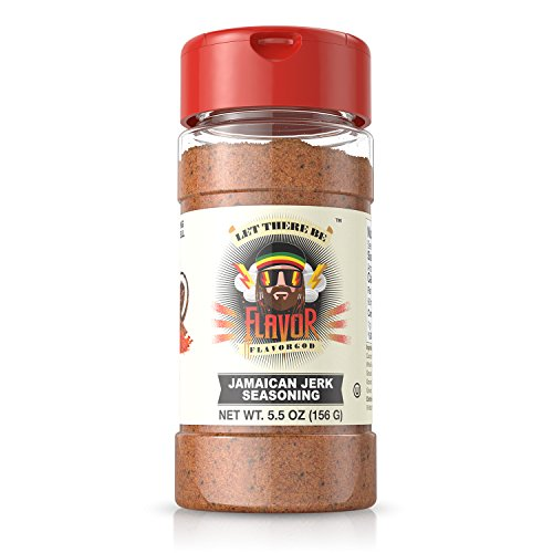 #1 Best-Selling 5Oz. Flavor God Seasonings - Gluten Free, Low Sodium, Paleo, Vegan, No Msg (Jamaican Jerk, 1 Bottle)