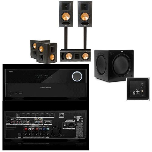 Klipsch Rb-61Ii 5.1 Home Theater Bundle-Sw-310-Harman Avr-2700