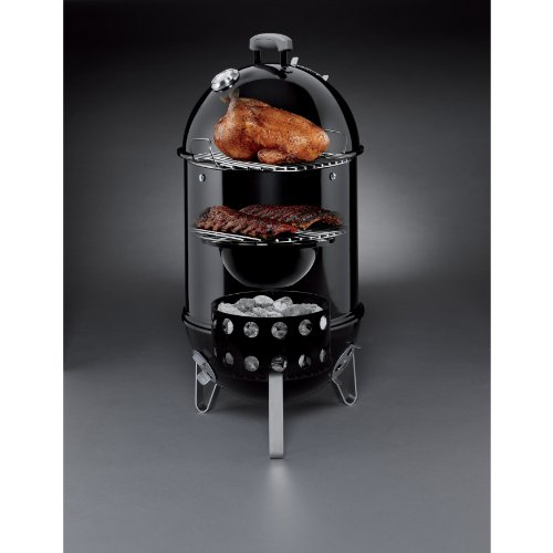 weber 711001 smokey mountain cooker 14 inch charcoal. Black Bedroom Furniture Sets. Home Design Ideas