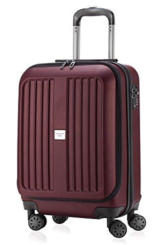 Capitale valigia Serie XBERG Borgogna con lucchetto TSA MATT 55 cm + westhome Kulturtasche