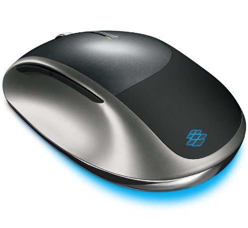 Microsoft Explorer Any Surface BlueTrack Scroll Technology, 30ft Long Range Wireless, Rechargeable, 5 Button Laser Precision Mouse - Compatible with All Laptop, Notebook, Netbook, Booklet or Desktop Computers - Black & Silver