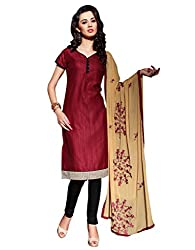 Varanga Maroon Exclusive Dress Material with embroidery Fancy Dupatta KFPVTR1012